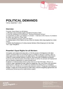 Political Demands