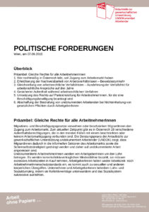 UNDOK-Anlaufstelle_Politische Forderungen