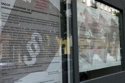 Plakatserie »Arbeit ohne Papiere, … aber nicht ohne Rechte!«