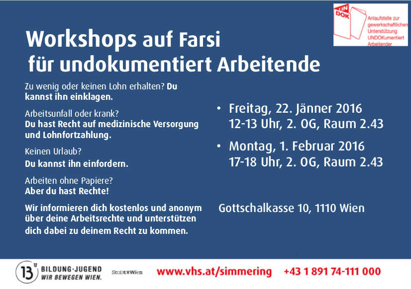 UNDOK-Workshops auf Farsi